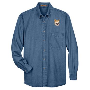 BirdDawg Embroidered Mens Denim Shirts
