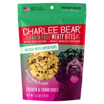 Charlee Bear Grain Free Meaty Bites Chicken & Cranberry 2.5oz
