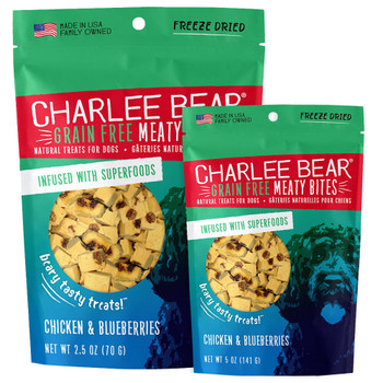 Charlee Bear Grain Free Meaty Bites Chicken & Blueberry