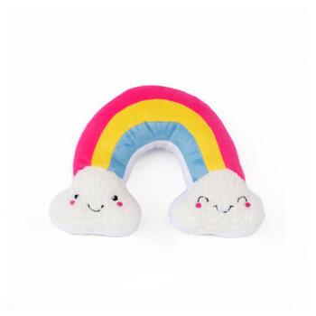 Zippy Paws Squeakie Pattiez Rainbow Plush Dog Toy