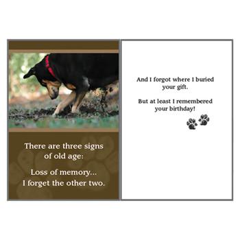 Dog Speak Birthday Card 3 Signs of Old Age