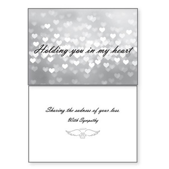 Dog Speak Sympathy Card - Holding You in My Heart