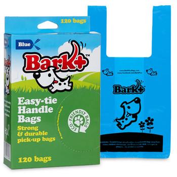Bark Plus Poop Bags with Handles BLUE