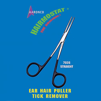 Hairmostat by Aaronco - 5.5 inch Straight Non-Locking with Vinyl Coated Handles