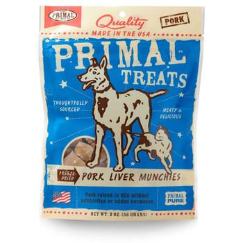 Primal Pork Liver Dog and Cat Munchies