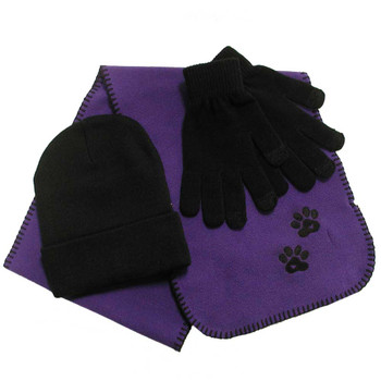 BirdDawg Paw Print Scarf Winter Bundle