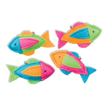 SPOT Whiskins Felt Fish with Bell and Catnip Cat Toy
