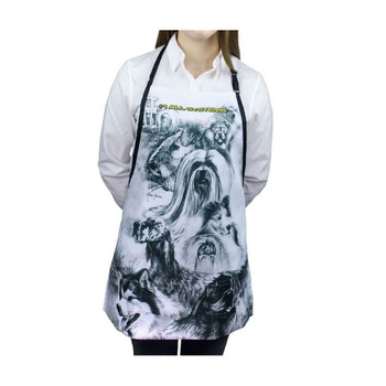 #1 All Systems Dog Print Apron