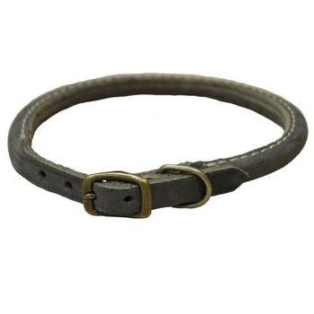 Coastal Rustic Slate Gray Leather Collars
