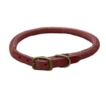 Coastal Rustic Brick Leather Collars