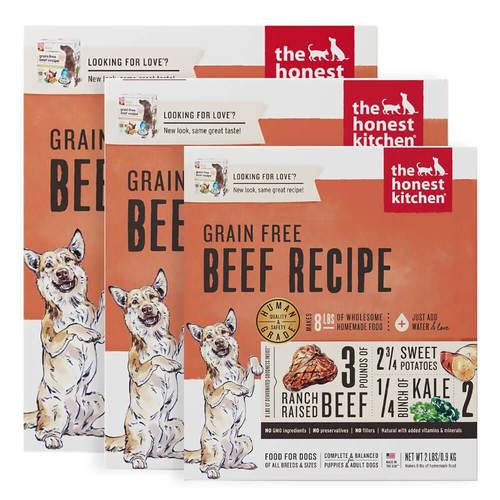 Honest Kitchen Grain Free Dehydrated Beef Dog Food