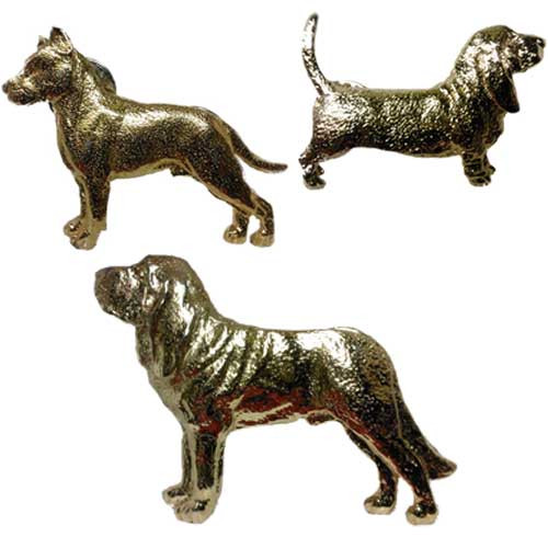 George Harris Gold Plated Dog Breed Pins