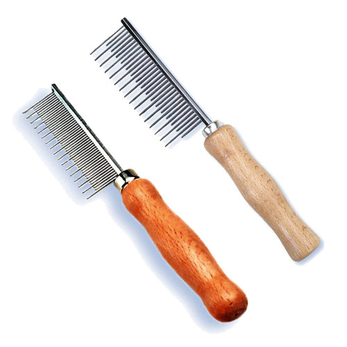 Safari Wood Handle Shedding Combs