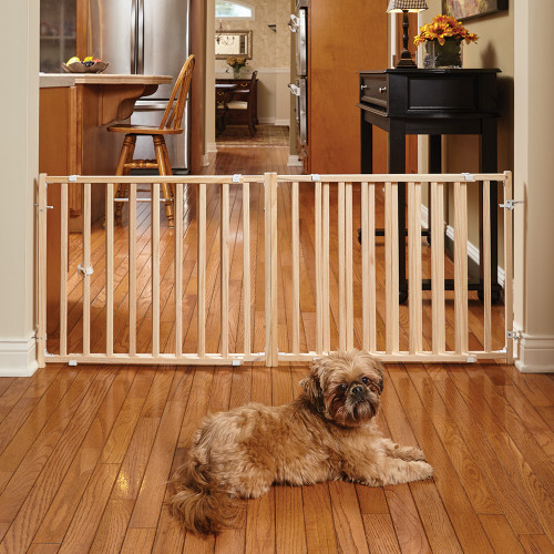 MidWest Extra-Wide Wooden Pet Gate