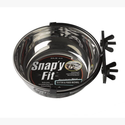MidWest Snap'y Fit Water and Food Bowls
