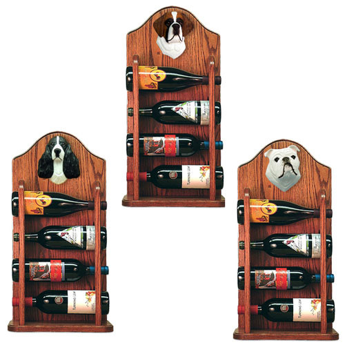 Wine Rack 4 Bottle Design in Dark Oak by Michael Park
