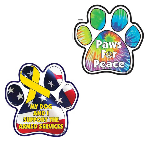 Colored Paw Magnets