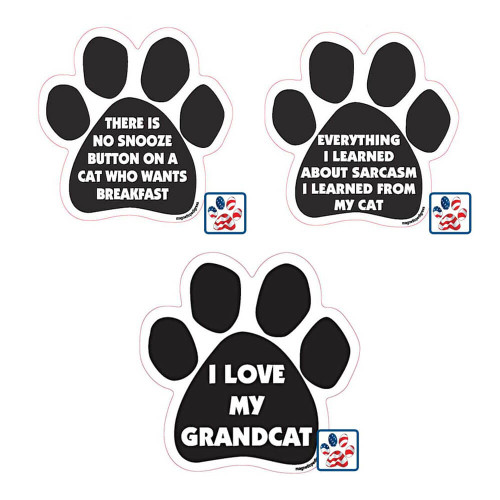 Cat Paw Magnets with Phrases