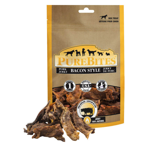 Pure Bites Pork Bacon Jerky Treats