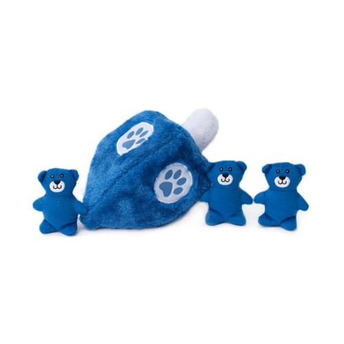 ZippyPaws Hannukkah Zippy Burrow Dreidel