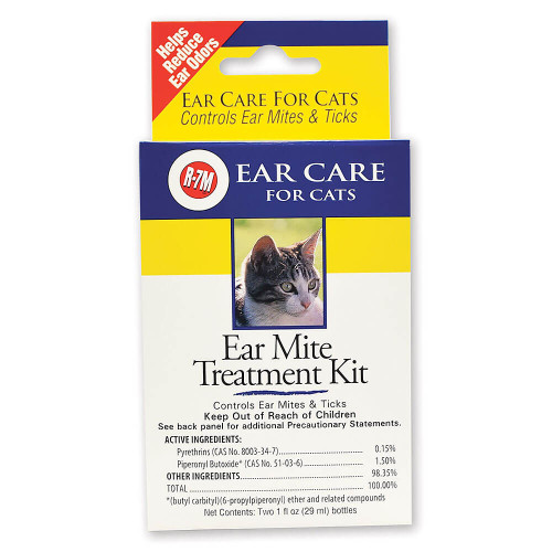 R7 Ear Mite Treatment Kit for Cats