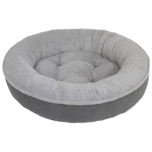 Arlee Maggie Donut Bed in Grey and Charcoal