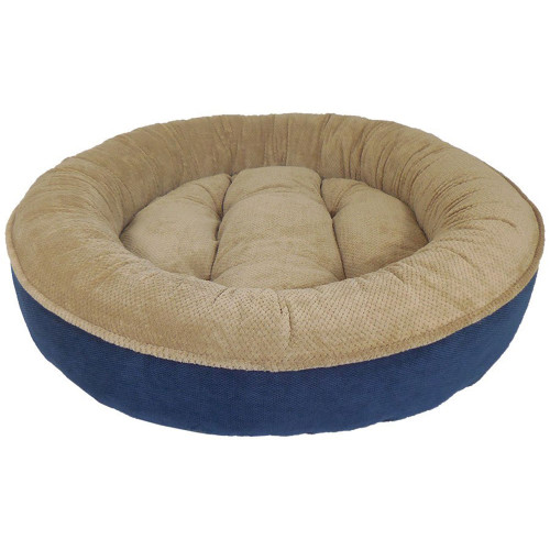 Arlee Maggie Donut Bed in Navy and Tan