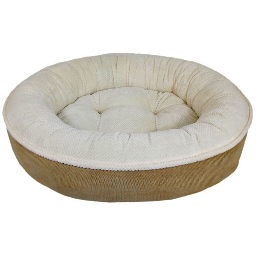 Arlee Maggie Donut Bed in Sand and Eggshell