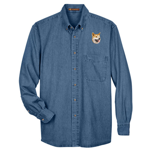 BirdDawg Embroidered Mens Denim Shirts