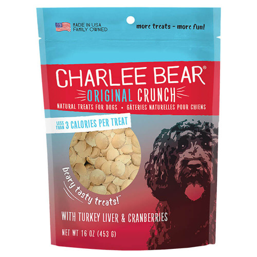 Charlee Bear Original Crunch Treats - Turkey Liver & Cranberries