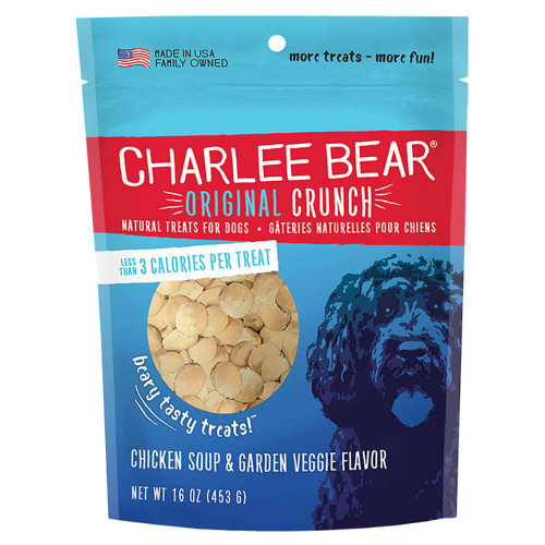 Charlee Bear Original Crunch Treats - Chicken Soup & Garden Veggie
