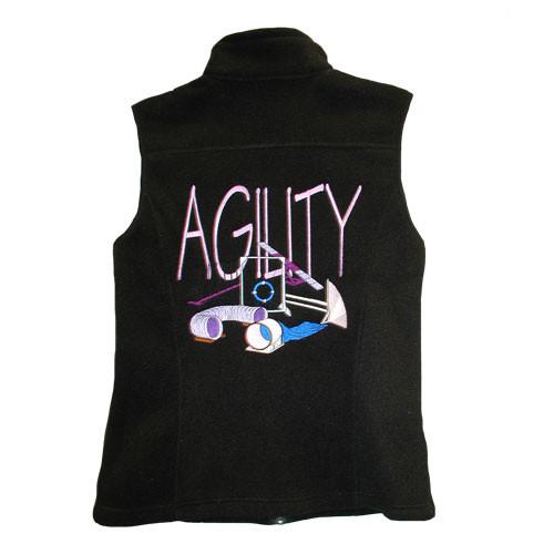 BirdDawg Fleece Vest with Pink Agility Design