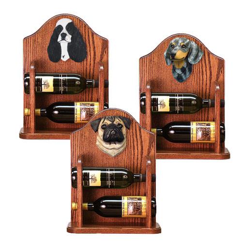 Wine Rack 2 Bottle Design in Dark Oak by Michael Park