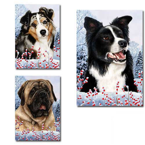 Winter Berries Dog Breed Flags