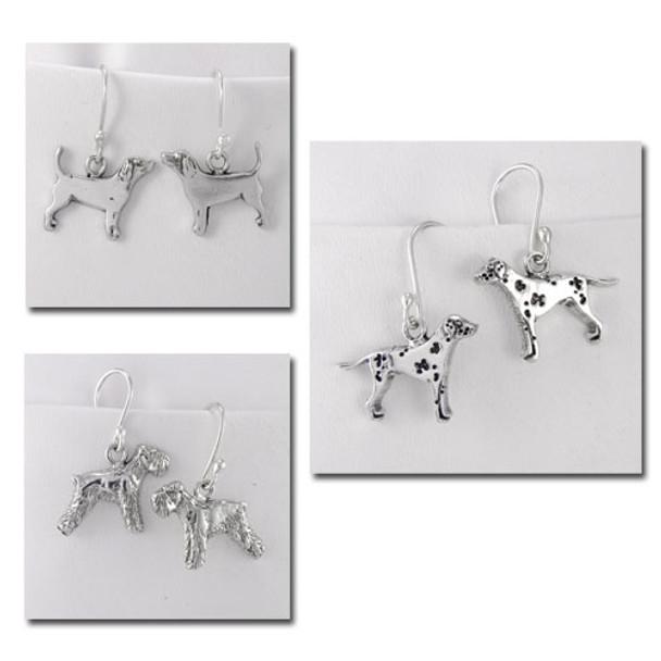 Fine Arf Dog Breed Earrings