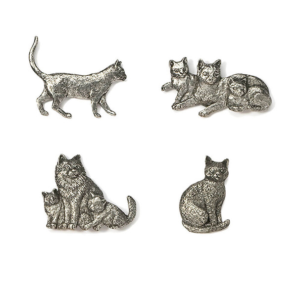 Pewter Cat Pins