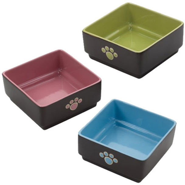 Four Square Dog Dishes