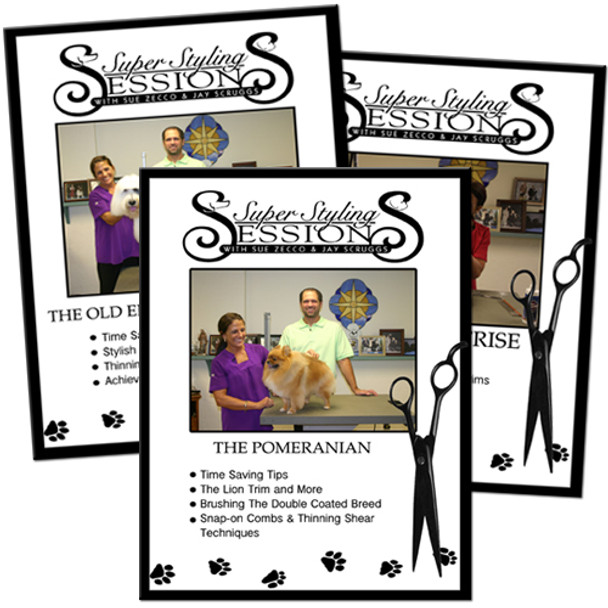 Super Styling Sessions DVDs - Scissored Breeds
