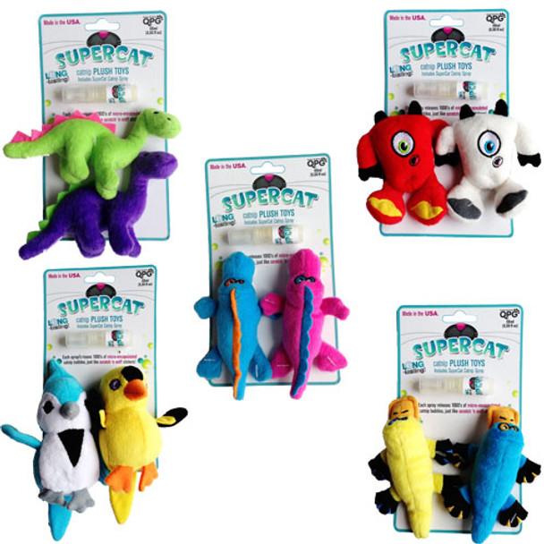 Super Cat Plush Cat Toys with Catnip Spray