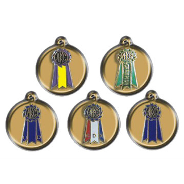 Dog Show Charm on Disk-Gold