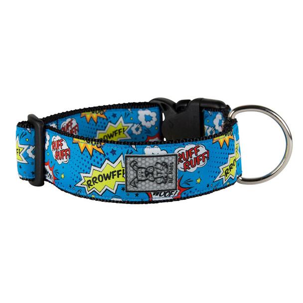 RC Pets Wide Clip Nylon Collar Comic Sounds