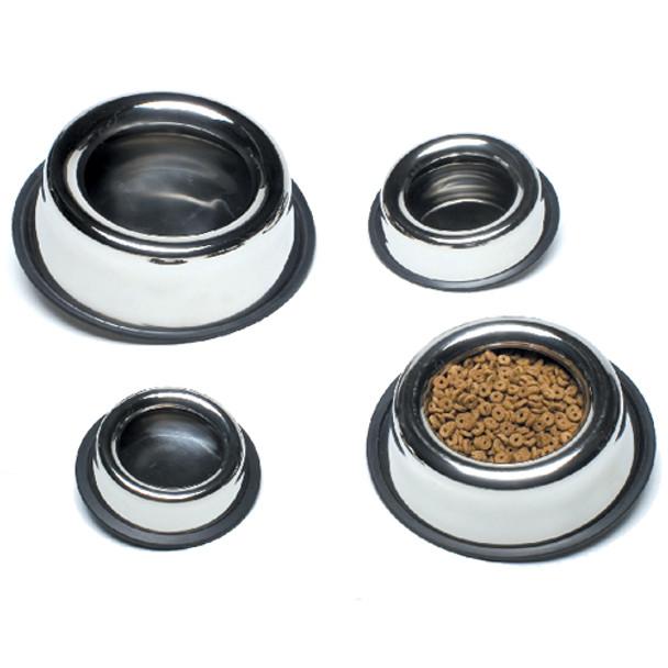 SPLASH-FREE No Tip Stainless Steel Bowls