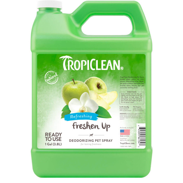 TropiClean Freshen Up Deodorizing Spray for Pets - Gallon
