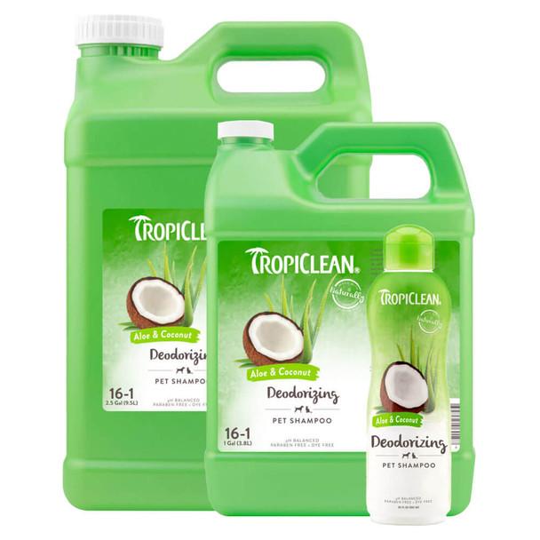 TropiClean Aloe and Coconut Deodorizing Shampoo
