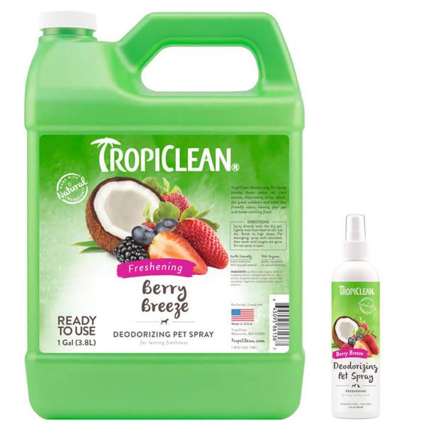 TropiClean Berry Breeze Deodorizing Spray for Pets