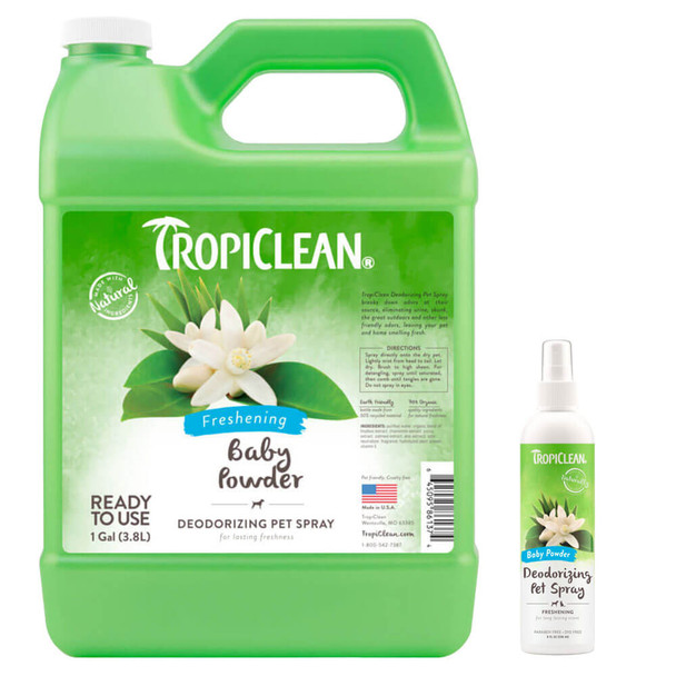 TropiClean Baby Powder Deodorizing Spray for Pets