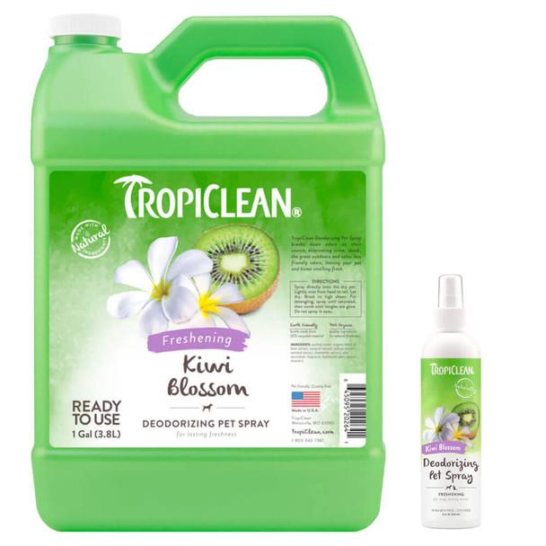 TropiClean Kiwi Blossom Deodorizing Spray for Pets