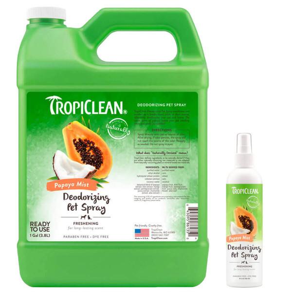 TropiClean Papaya Mist Deodorizing Spray for Pets