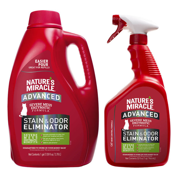 Natures Miracle Advanced Severe Mess Enzymatic Stain and Odor Remover