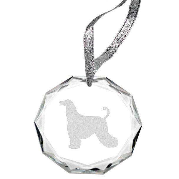 Cherrybrook Laser Engraved Round Facet Crystal Ornament